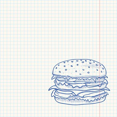 Hamburger Sketch Vector