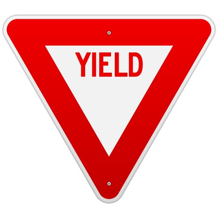 warning triangle: USA Yield Sign