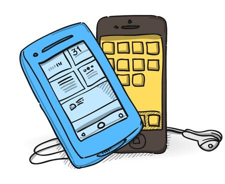 Mobile Phone Set Stock Vector - 20133684