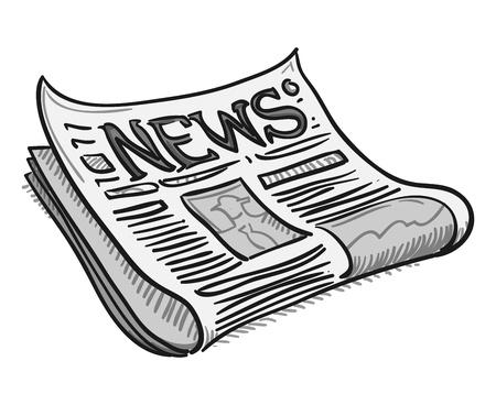 Periódico portada Ilustración de vector