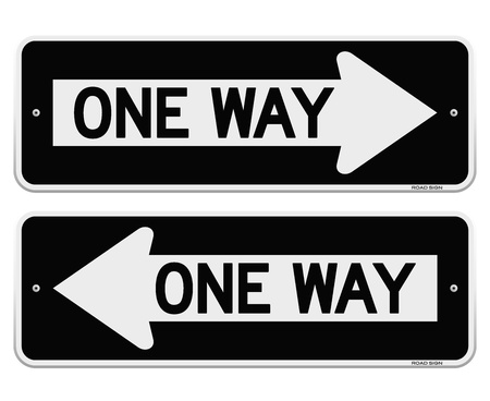 One Way Sign Banco de Imagens - 20134438