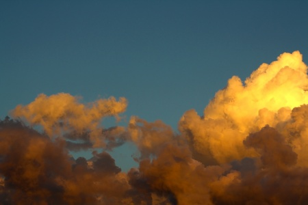 Golden Clouds Stock Photo - 20763615