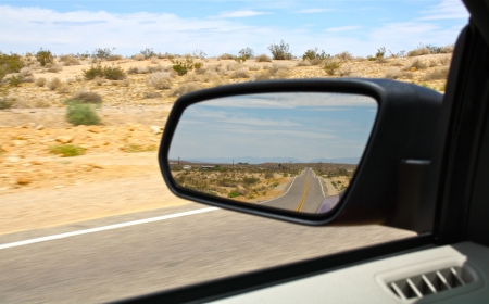 Route 66 in the Mirror Stock Photo - 20763639