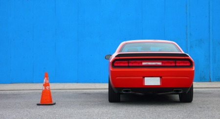 challenger: Red Muscle Car