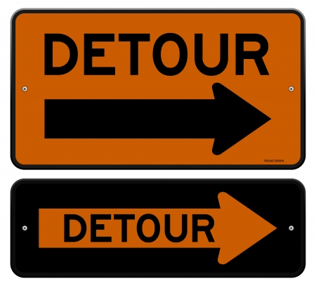 Detour Sign Stock Vector - 20763739