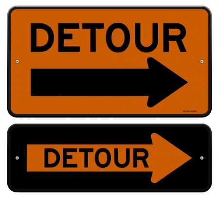 routes: Detour Sign Illustration