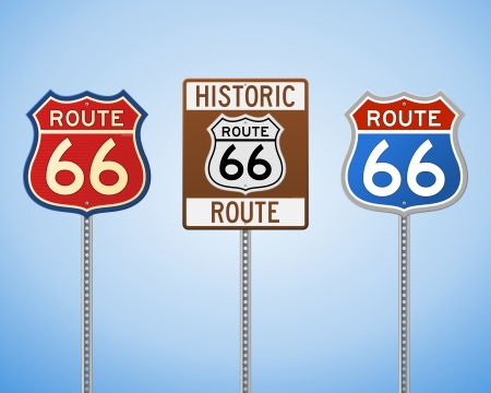 66: Route 66 Vintage Signs