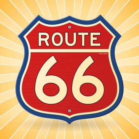 Vintage Route 66 Symbol Vector