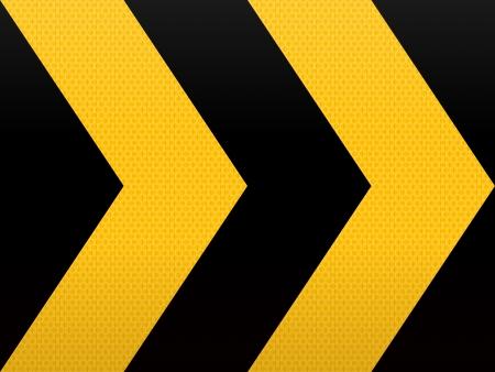 원활한 노란색 검은 색 화살표
