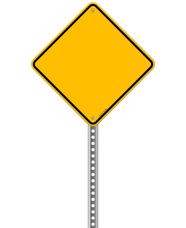 hazard sign: Empty Yellow Sign Illustration