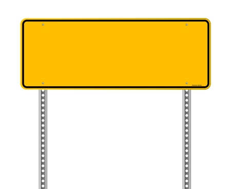 highway sign: Blank Warning Sign