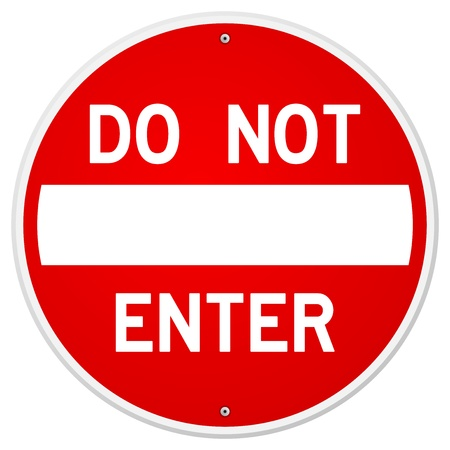 incorrect: Do Not Enter Sign Illustration