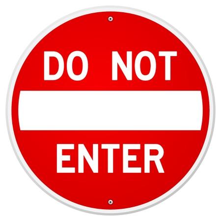 Non Enter Entra
