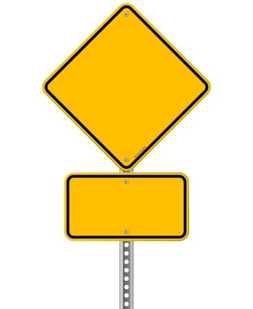黄色の記号とポール  イラスト・ベクター素材