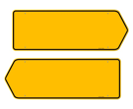 two way: Directions Yellow Sign Illustration