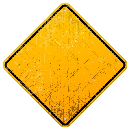 Rusty Yellow Sign Stock Vector - 20763761