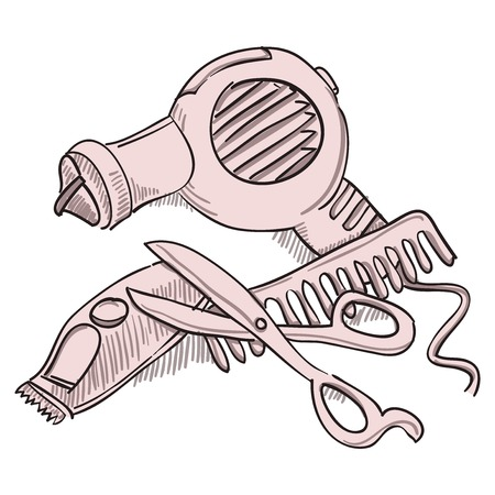 Hairdresser Equipment Vector