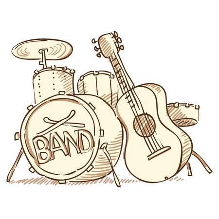 drum kit: Drums and Guitar