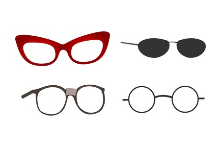 Glasses Collection Illustration