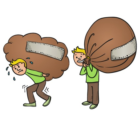 Bokszak Cartoon Vector Illustratie