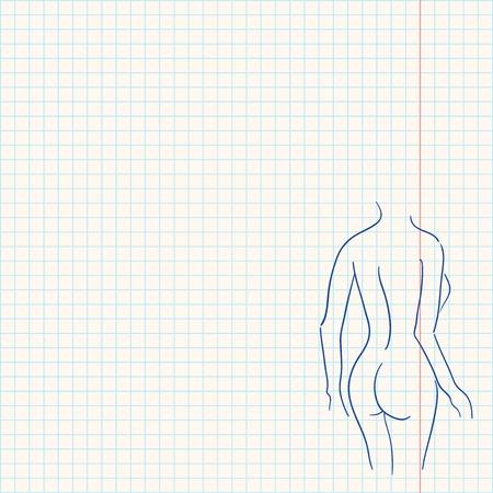 Corps féminin Sketch