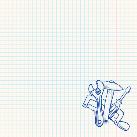 Maintenance Tools Drawing Vector