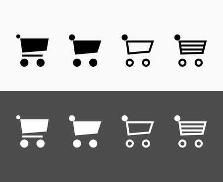 checkout line: Shopping Cart Icon Illustration