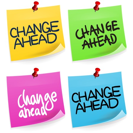 ahead: Change Ahead Sticky Note