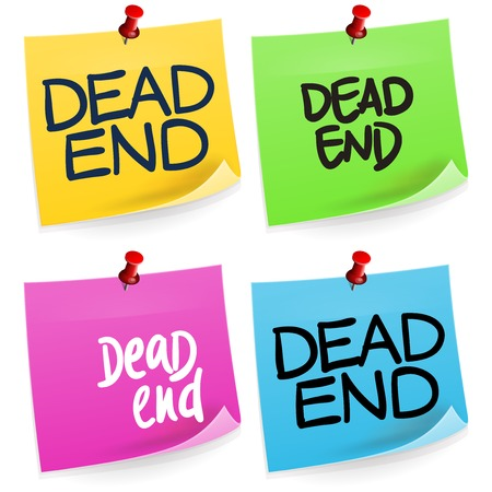 dead end: Dead End Sticky Note