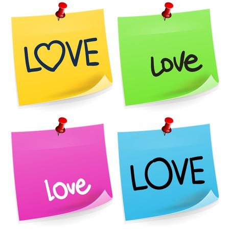 sticky note: Love Sticky Note
