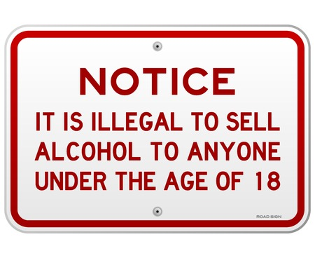 Alcohol Notice 18 Years Stock Vector - 22963638
