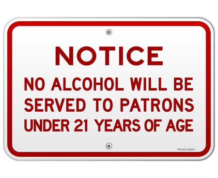 Alcohol Notice 21 Years Stock Vector - 22963639