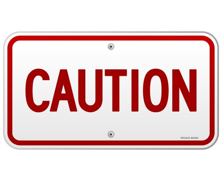 Caution Rectangular Notice Stock Vector - 22963641