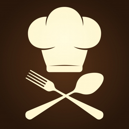 Chef Symbol and Cutlery Vector