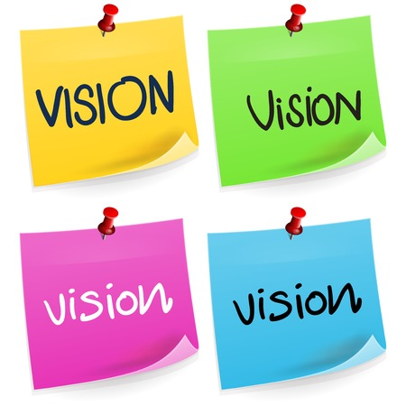 vision mission: Vision Sticky Note