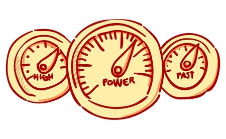 kph: Speedometer Dashboard Illustration