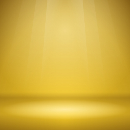 Empty Yellow Stage Vector