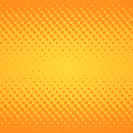 halftone: Yellow Gradient Texture Illustration