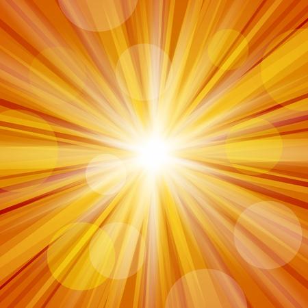 radiate: Sunlight with Lens Flare Stock Photo