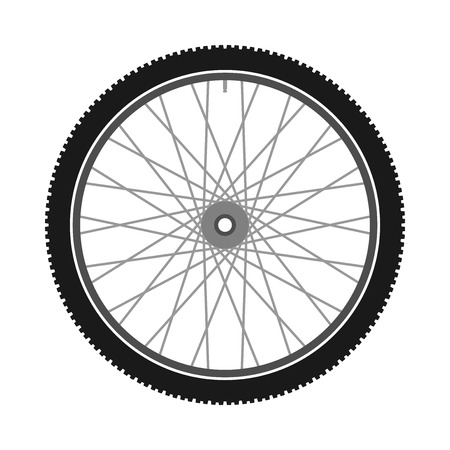 alloy wheel: Isolated Bicycle Wheel Illustration