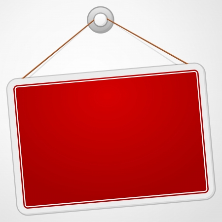 rood teken: Red Sign Board Stock Illustratie