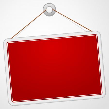 Red Sign Board Illustration