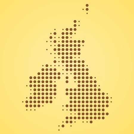 orange county: Britain Map Illustration