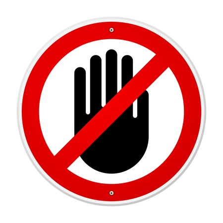 no entry sign: Stop Hand Symbol Illustration