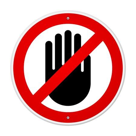 Stop Hand Symbol Illustration
