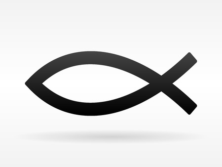 christian faith: Christian Fish Symbol Illustration