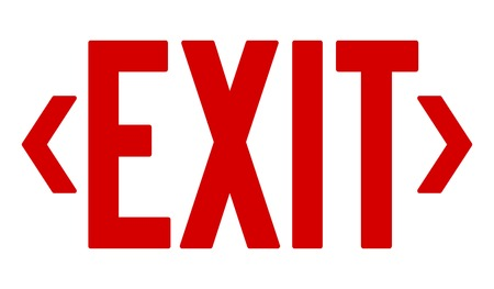 emergency exit: Red Exit Sign