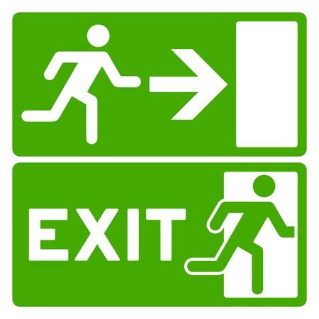 Green Exit Symbol Vector