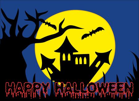 Halloween Holiday Castle Vector