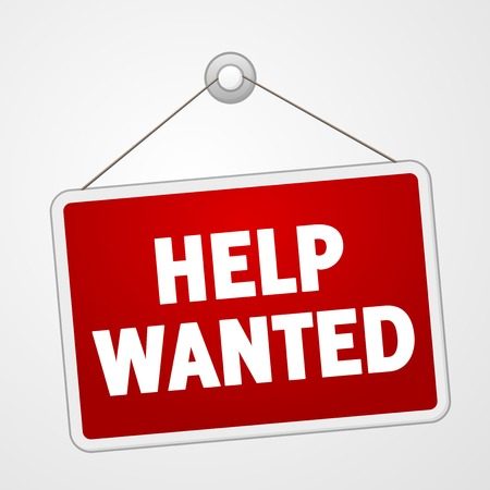 wanted poster: Help Wanted Sign Illustration